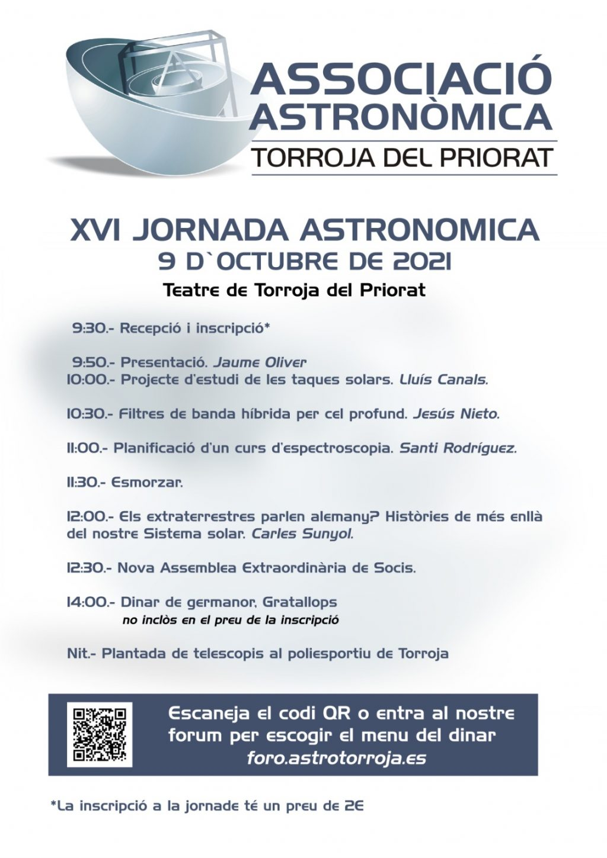 XVI Jornada Astronómica